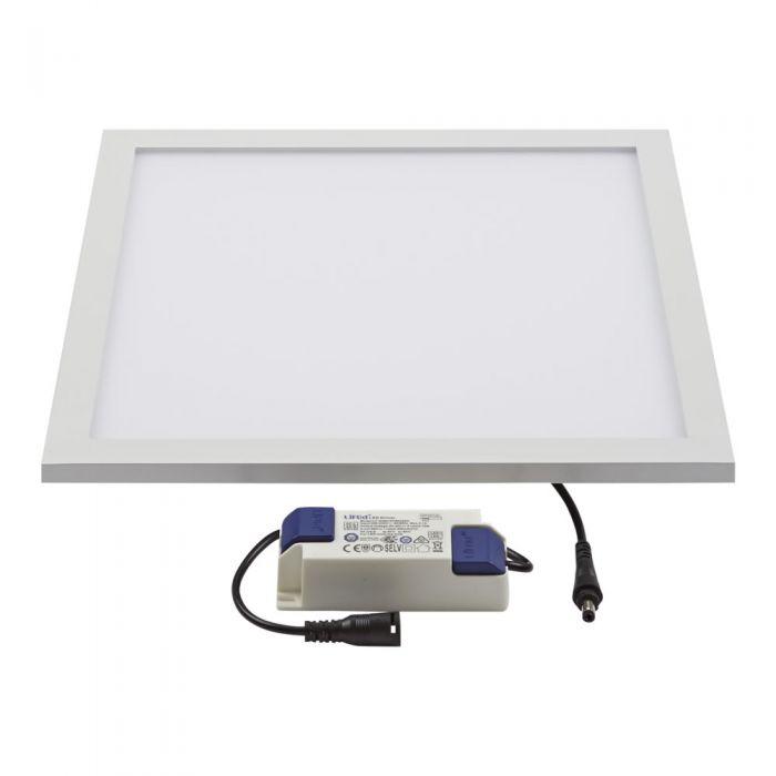 1 x 10W LED Paneel 30cm x 30cm x 9cm incl LED Driver
