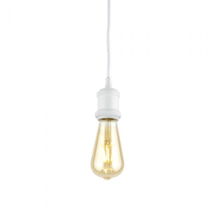 Norrebro Plafondkap, Kabel en E27 Fitting Wit 4,8 x 6,9 cm