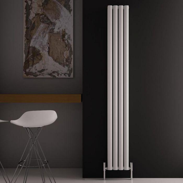 Revive Air Verticale Aluminium Dubbelpaneel Designradiator - 180cm x 23cm x 7,6cm Wit 1002Watt