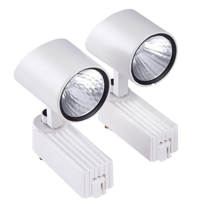 2 x 7W LED Railspots - Wit