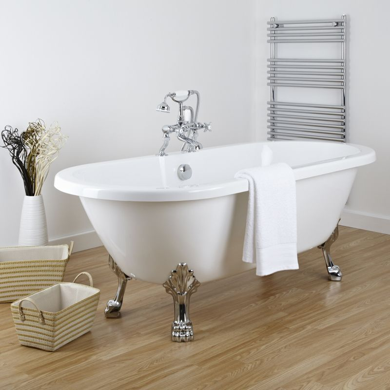 St lucia retro vrijstaand bad met pootjes 174cm x 79 2cm - Retro bad ...