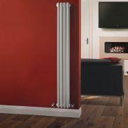 Windsor Designradiator Verticaal Klassiek Wit 150cm x 20,3cm x 10cm 694 Watt