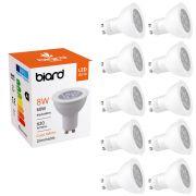 Multipak - 10 x GU10 8W LED Spot - Vervangt 60W - Dimbaar