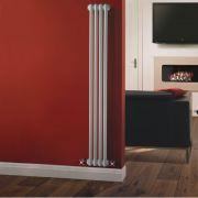 Windsor Designradiator Verticaal Klassiek Wit 150cm x 20,3cm x 6,8cm 548 Watt