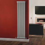 Windsor Designradiator Verticaal Klassiek Wit 180cm x 38,3cm x 6,8cm 1245 Watt
