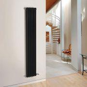 Windsor Designradiator Verticaal Klassiek Zwart 180cm x 29,3cm x 10cm 1169 Watt