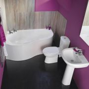 Ora Badkamerset inclusief Hoekbad, Wastafel en Toilet