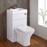 Toilet met ingebouwde wastafel 87cm x 50cm 85cm Wit