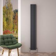 Revive Air Verticale Aluminium Dubbelpaneel Designradiator - 180cm x 23cm x 7,6cm Antraciet 1002Watt