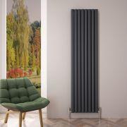 Revive Air Verticale Aluminium Dubbelpaneel Designradiator - 180cm x 47cm x 7,6cm Antraciet 2004 Watt