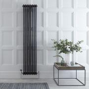 Windsor Designradiator Verticaal Klassiek Zwart 180cm x 38,3cm x 10cm 1558 Watt