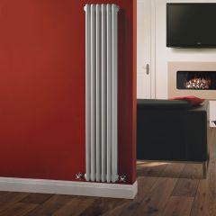 Windsor Designradiator Verticaal Klassiek Wit 150cm x 29,3cm x 10cm 1041 Watt