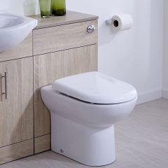 BASIC Toiletmeubel 50cm x 33cm x 76,5cm met Dual Flush spoeling - Ronde uitvoering