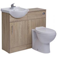 BASIC Wastafelmeubel & Toiletcombinatie 94cm x 82cm x 81cm