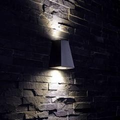 Op- en Neerwaartse Buitenlamp - Zwart - Gehoekt