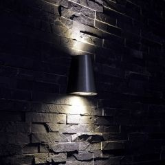 Op- en Neerwaartse Buitenlamp - Zilver - Rond