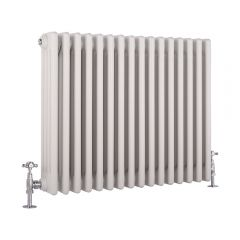 Windsor Designradiator Horizontaal Klassiek Wit 60cm x 76,5cm x 13,3cm 1613 Watt