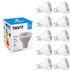 Multipak - 10 x GU10 4W LED Spot - Vervangt 35W