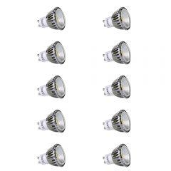 Multipak - 10 x GU10 5W Dimbare COB LED Spot - Vervangt 50W - Dimbaar