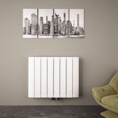 Aurora Designradiator Horizontaal Middenaansluiting Aluminium Wit 60cm x 75,5cm x 4,5cm 1024 Watt