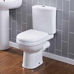 Duoblok Toilet Ivo Dual Flush met Reservoir en Toiletzitting Wit
