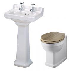 Richmond Wastafel - 50cm & Toilet excl. reservoir en Keuze Toiletzitting