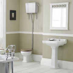 Richmond Wastafel 56cm & Hooghang Toilet en Keuze Toiletzitting