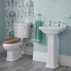 Richmond Wastafel - 50cm & Toilet met Reservoir en Keuze Toiletzitting