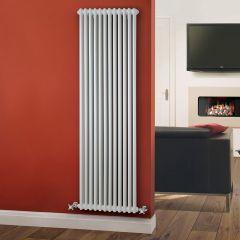 Windsor Designradiator Verticaal Klassiek Wit 180cm x 56cm x 7cm 1867 Watt