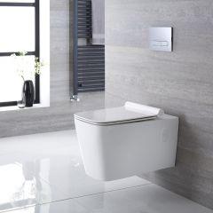 Elswick Hangend Keramiek Toilet incl WC Bril Vierkant Wit