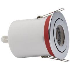1 x IP20 GU10 Inbouwspot Kantelbaar Excl Lamp Keus Uit 3 x Omlijstingen Rond