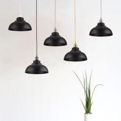 Dalston Hanglamp Zwart E27 (keus uit 5 fitting kleuren)