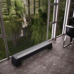 Hudson Reed Adva - Anthracite Double Panel Low Level Convector Radiator - 200mm x 1400mm