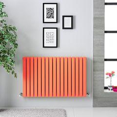 Sloane Designradiator Horizontaal Dubbel Paneel Licht Oranje 63,5cm x 100cm x 7,1cm 1022 Watt
