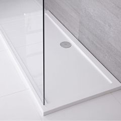 Pearlstone XL Douchebak Acryl Rechthoek Wit 150cm x 90cm x 4cm