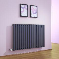 Revive Elektrische Radiator Horizontaal Antraciet 63,5cm x 100cm x 5,5cm