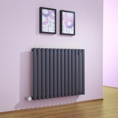 Revive Designradiator Elektrisch Horizontaal Antraciet 63,5cm x 83,4cm x 5,6cm