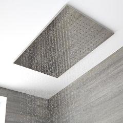 Trenton Moderne Regendouche met Waterval Messing Chroom 80cm x 50cm