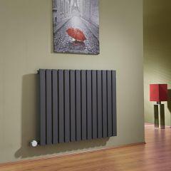 Sloane Designradiator Elektrisch Horizontaal Antraciet 63,5cm x 83,4cm x 5,4cm
