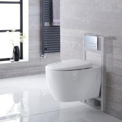Altham Hangend Keramiek Toilet incl Inbouwreservoir (Small) en Keuze Spoelknop