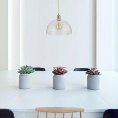 Gracia Hanglamp Glas Halfrond E27 (keus uit 5 fitting kleuren)