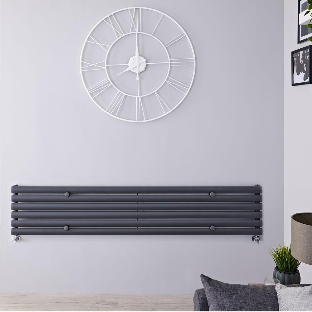 Revive Designradiator Horizontaal Antraciet 35,4cm x 160cm x 5,6cm 815 Watt