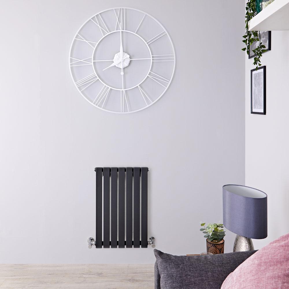 Sloane Designradiator Horizontaal Antraciet 63,5cm x 42cm x 5,4cm 421 Watt