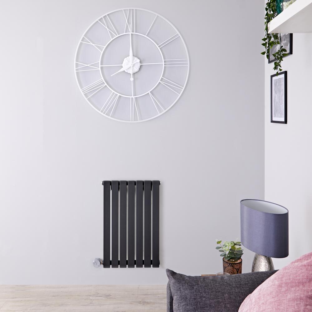 Designradiator Elektrisch Thermostatisch Horizontaal Antraciet 63,5cm x 42cm | Sloane
