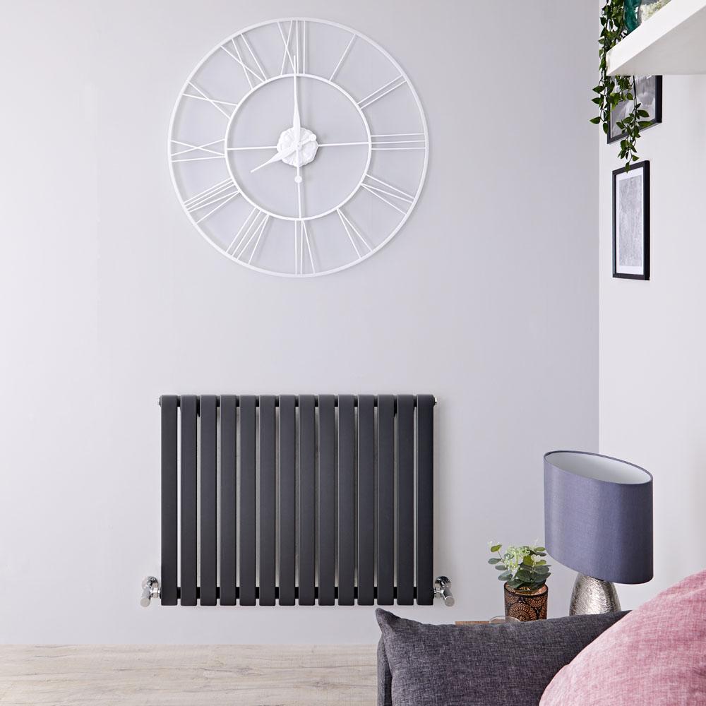 Sloane Designradiator Horizontaal Antraciet 63,5cm x 83,4cm x 5,4cm 842 Watt