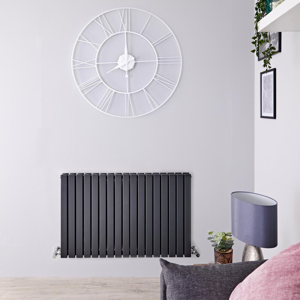 Sloane Designradiator Horizontaal Antraciet 63,5cm x 100cm x 7,1cm 1587 Watt