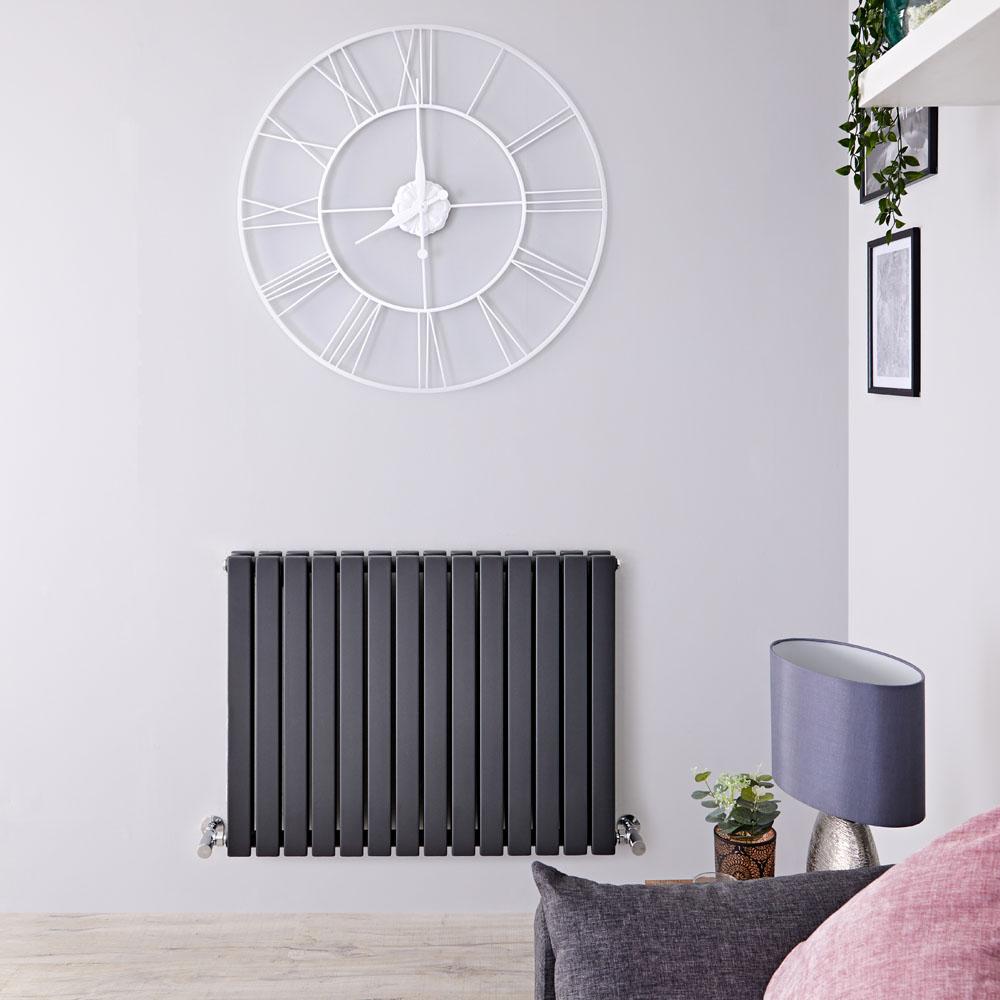 Sloane Designradiator Horizontaal Antraciet 63,5cm x 83,4cm x 7,1cm 1307 Watt