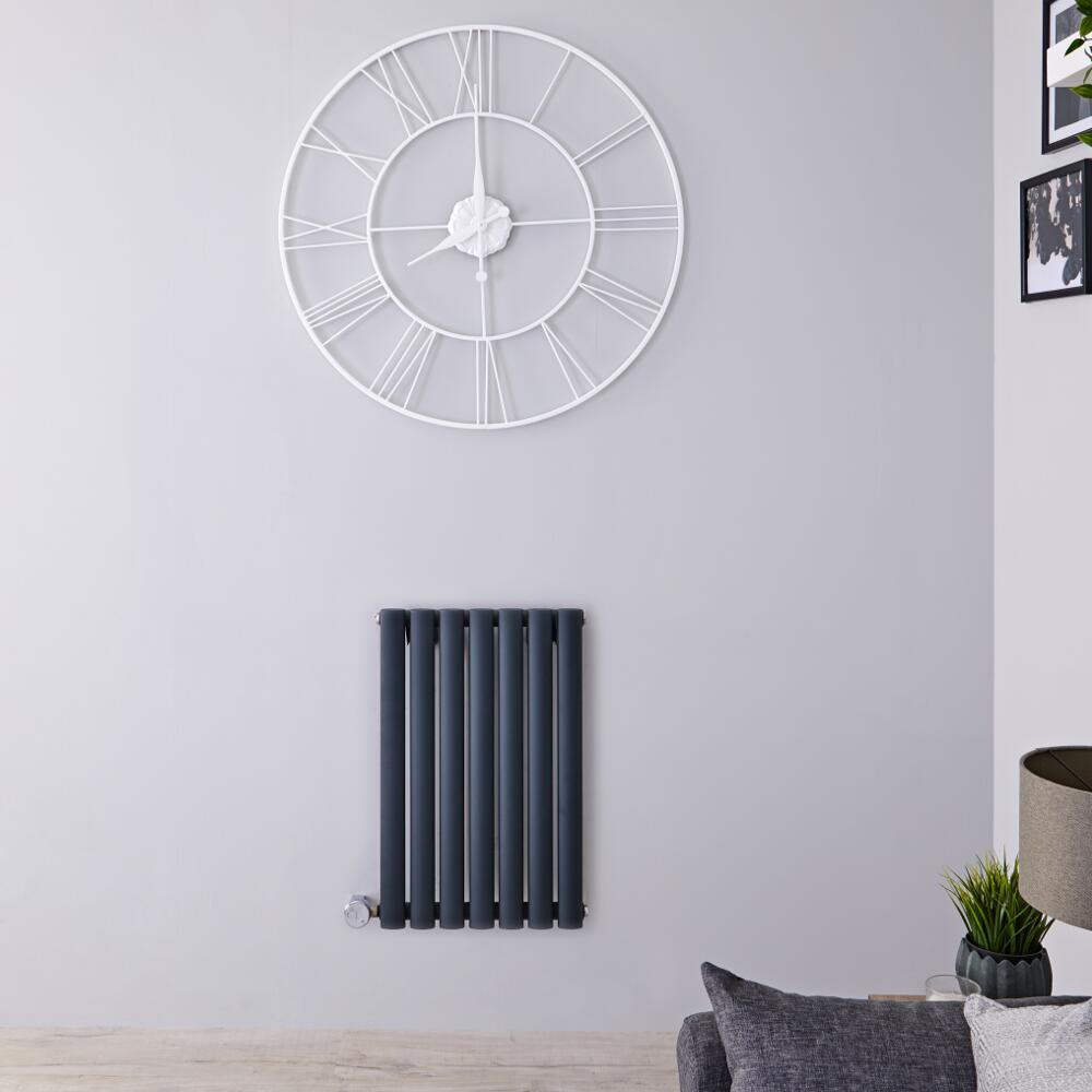 Designradiator Elektrisch met Thermostaat Horizontaal Antraciet 63,5cm x 41,5cm | Revive