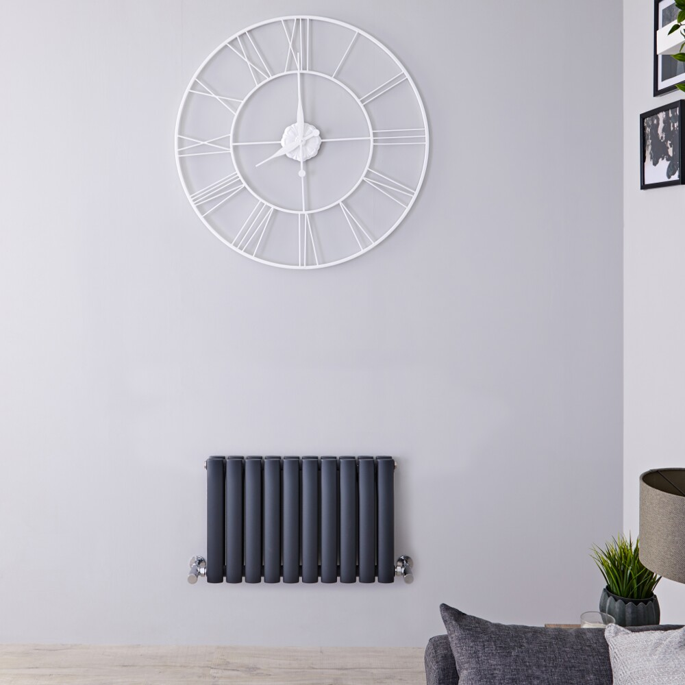 Revive Horizontale Dubbelpaneel Design Radiator Antraciet 40cm x 59,5cm x 7,8cm 619 Watt