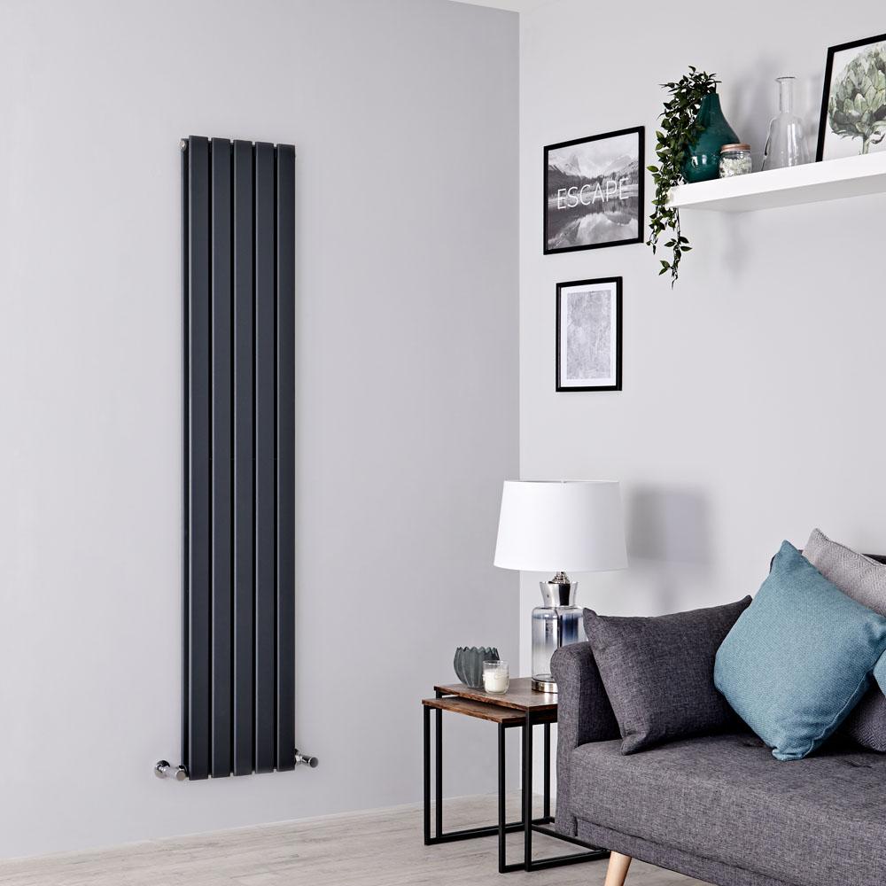 Delta Designradiator Verticaal Antraciet 160cm x 35cm x 6cm 1102 Watt